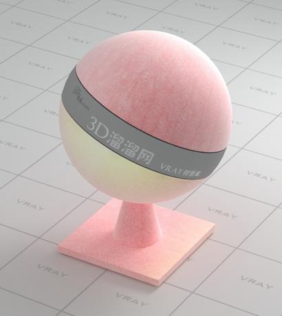 Fresh peach material rendering