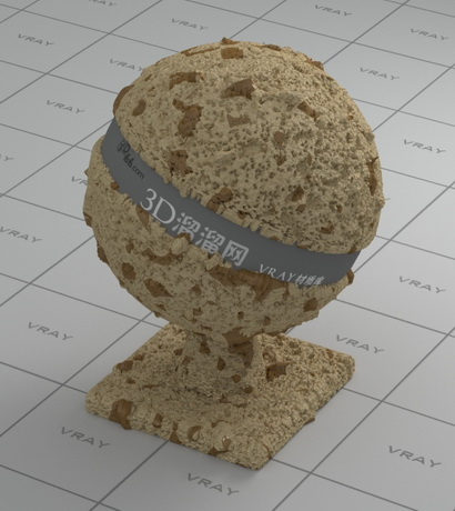 Chocolate chips cookie material rendering
