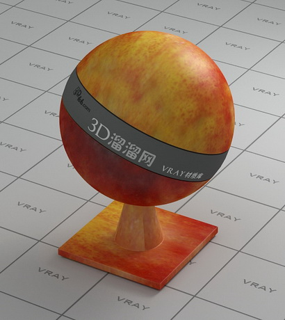 Red apple material rendering
