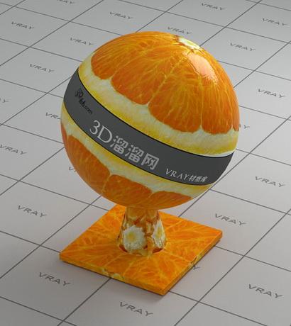 Cross section of orange fruit material rendering
