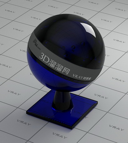 Midnight blue decoration glass material rendering