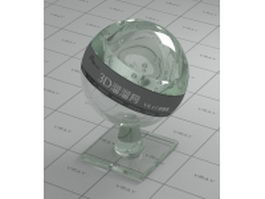 Common transparent glass vray material