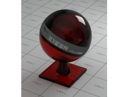 Dark red decoration glass vray material