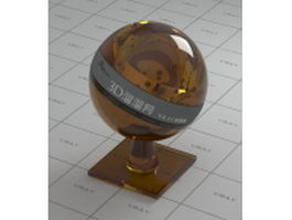 Brown decoration glass vray material