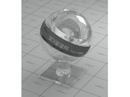 Transparent organic glass vray material