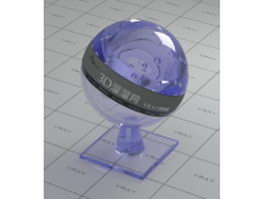 Slate blue plexiglass vray material