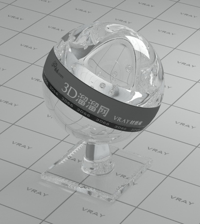 Silver chloride optical crystal material rendering