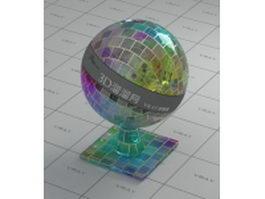 Multicolor decoration glass blocks vray material