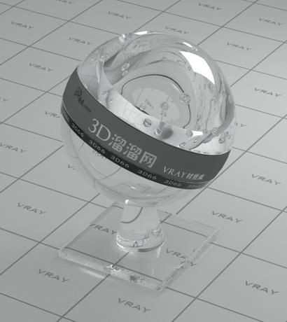 Glass tile material rendering