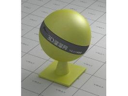 Yellow PSplastic vray material