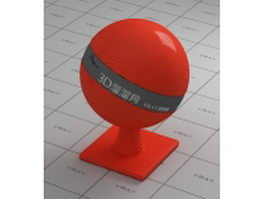 ASA plastic red vray material