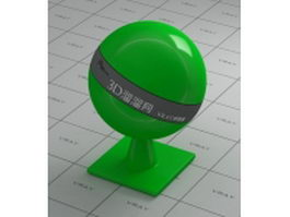 Glossy HDPE plastic vray material