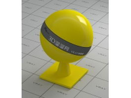 Polished yellow plastic vray material