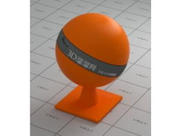 Orange PS plastic vray material