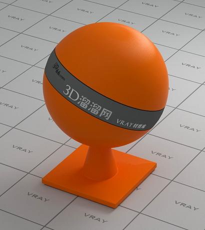 Orange PS plastic material rendering