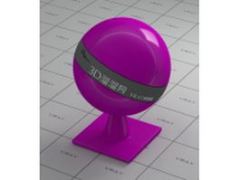 Polished purple plastic vray material