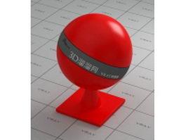 Red butadiene styrene plastic vray material