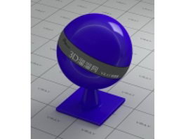 Polished blue plastic vray material