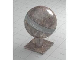 Polished dark emperador marble vray material