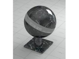 Black white vein marble vray material