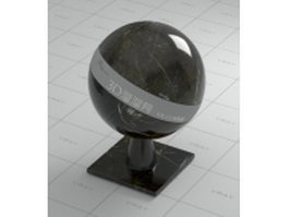 Impala black marble vray material
