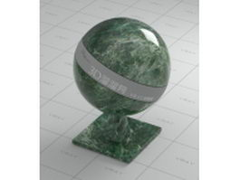 Emerald green marble vray material