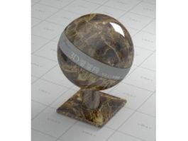 Dark emperador marble vray material