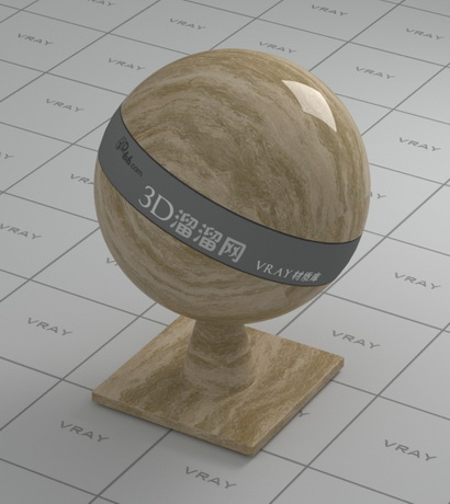 Brown wave marble material rendering