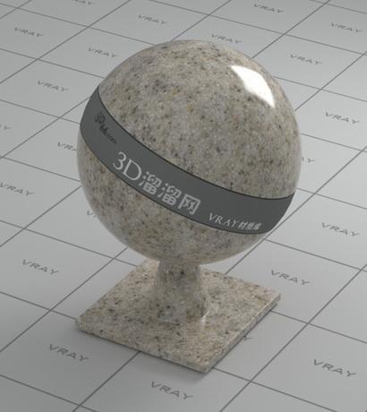 Polished beige granite material rendering