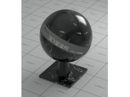 Silver dragon black marble vray material