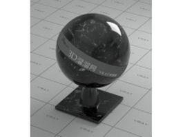 Nero Creta black marble vray material