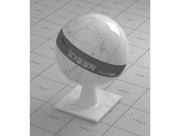 LabVader white marble vray material