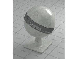 Green white marble vray material