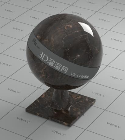 May brown marble material rendering