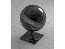 White line black marble vray material
