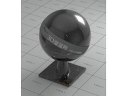 Black galaxy marble vray material