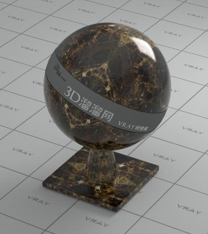 Gold Emperador marble material rendering