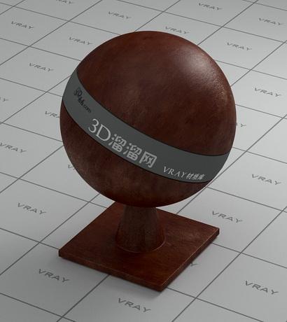 Dark brown patent leather material rendering