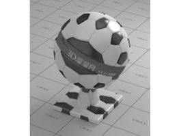 Soccer ball leather vray material