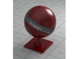 Smooth synthetic leather - dark red vray material