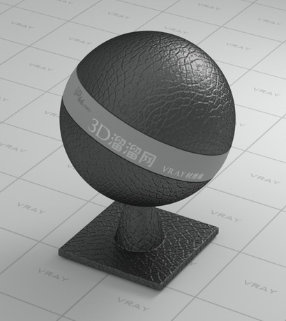 Black shrink leather material rendering