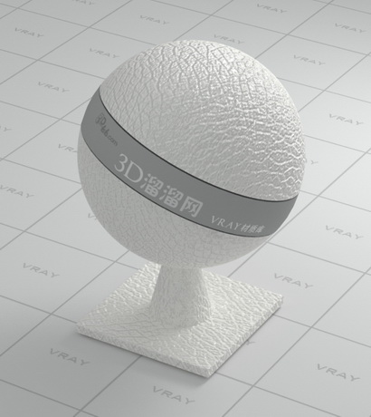 White shrink leather material rendering