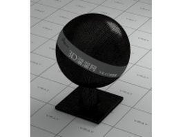 Embossed enamel leather - black vray material