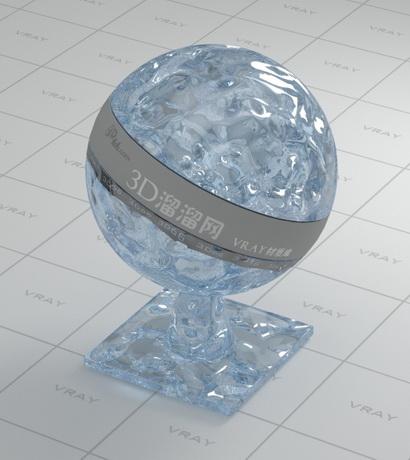 Water of swimming pools material rendering