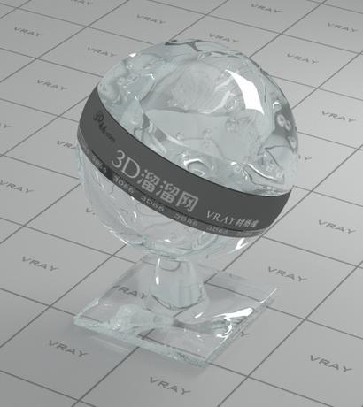 Bottled water material rendering