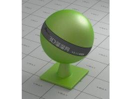 Car paint - metallic - apple green vray material