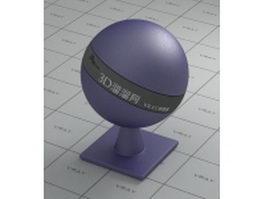 Car paint - metallic - medium purple vray material