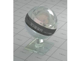 Reflective clear glass vray material