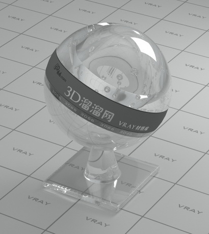 Mineral crystal glass material rendering