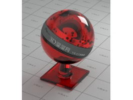 Candy apple glass vray material